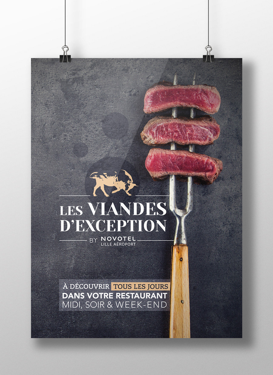 Création flyer viandes Novotel