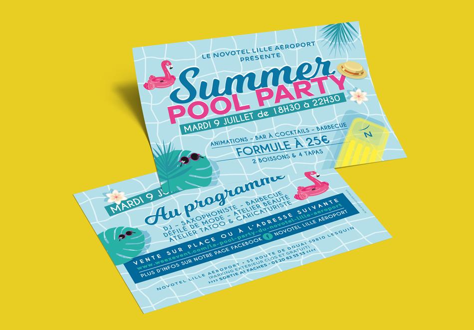 Flyer NOVOTEL Pool Party