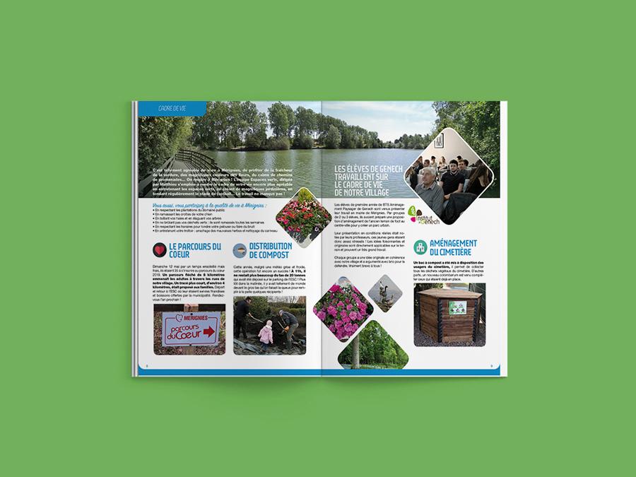 Création Journal de Mérignies • brochure 36 pages