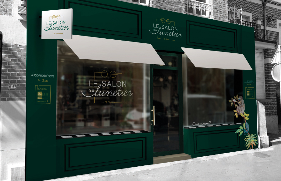 Facade Salon du Lunetier La Madeleine