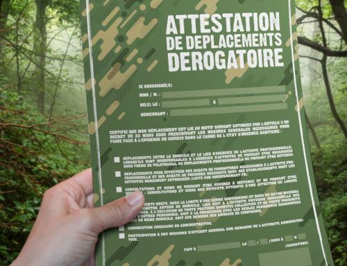 Attestation de déplacement dérogatoire • 13 avril 2020